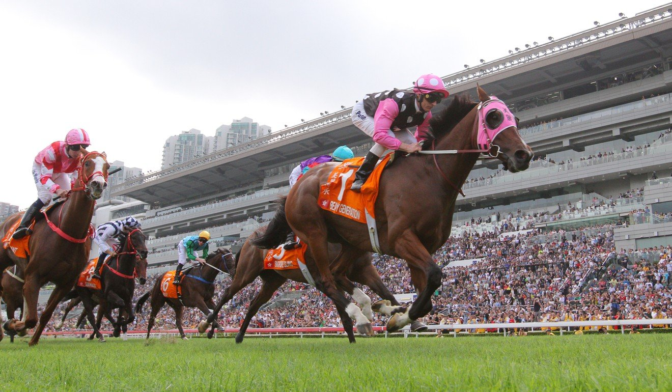 Beauty Generation wins the Group One Champions Mile.