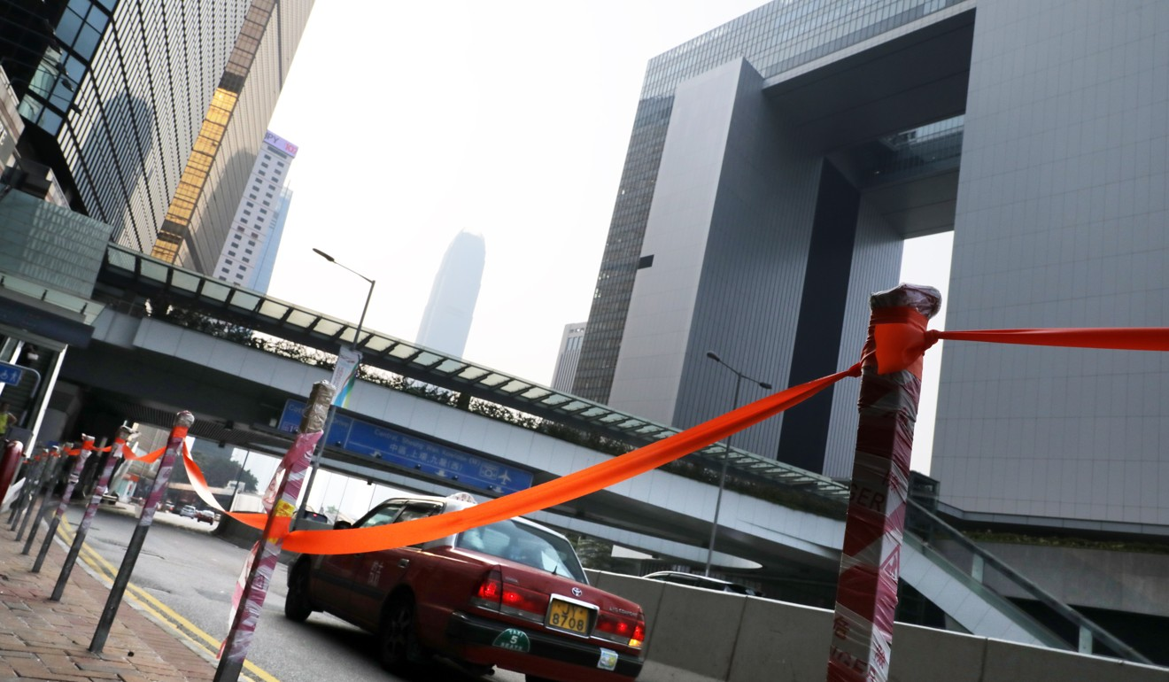 Police remove fences and bus stops from near Hong Kong march site ahead of extradition bill protest planned for Sunday