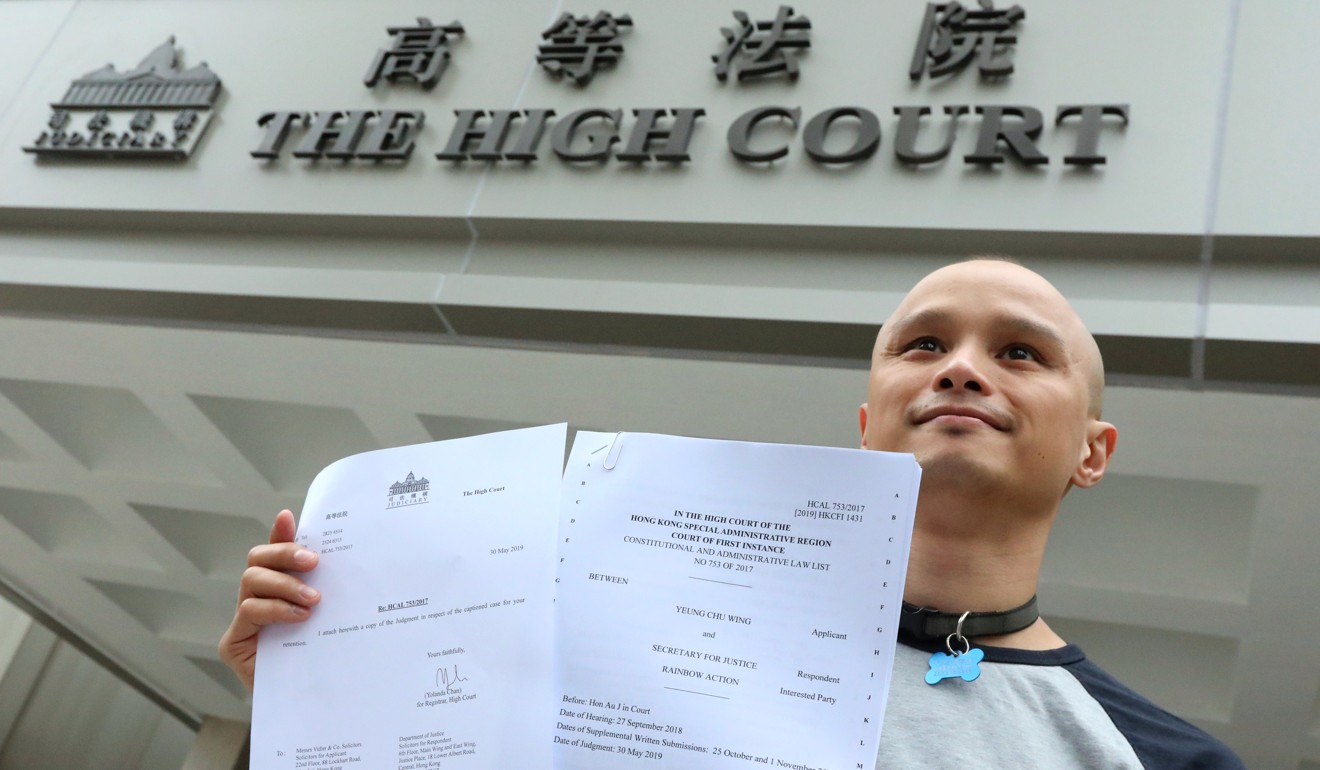 Rainbow Action founder Tommy Noel Chen photographed in May, when the High Court ruled that four criminal offences were unconstitutional and struck them down with immediate effect. Photo: Felix Wong