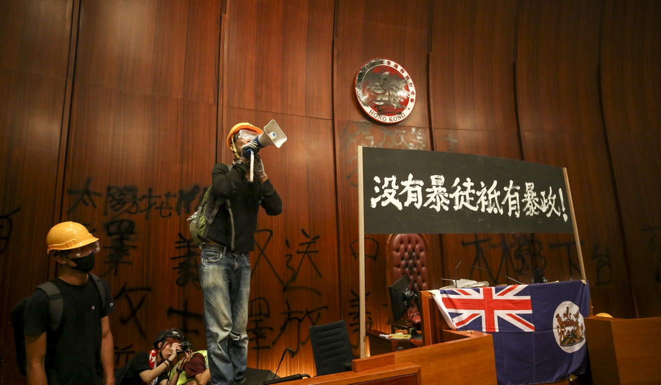 Some activists question whether the Taiwanese public would regard the storming of the Legislative Council as a peaceful protest. Photo: Winson Wong