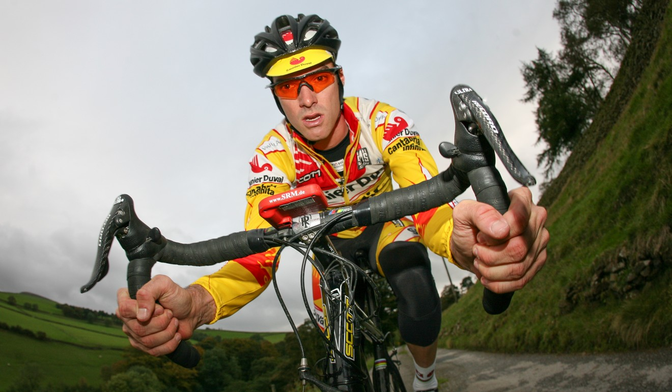 David Millar training in the Peak District, UK. He raced in the Tour de France and even held the yellow jersey. He lived in Hong Kong as a teenager. Photo: Steve Thomas