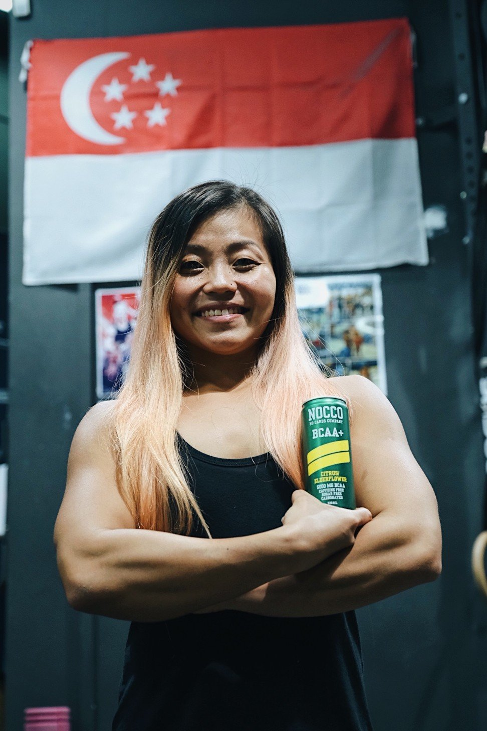 Landy Eng said she hopes to inspire more women to buff up, get off the treadmills and take their BCAAs.