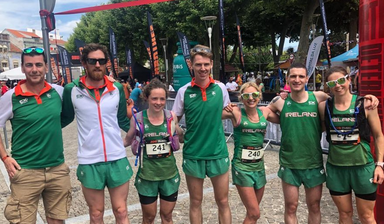 Brian McFlynn (centre) with Team Ireland at the Trail World Championships. Even he, an elite runner, was surprised to see others running on some inclines. Photo: Handout