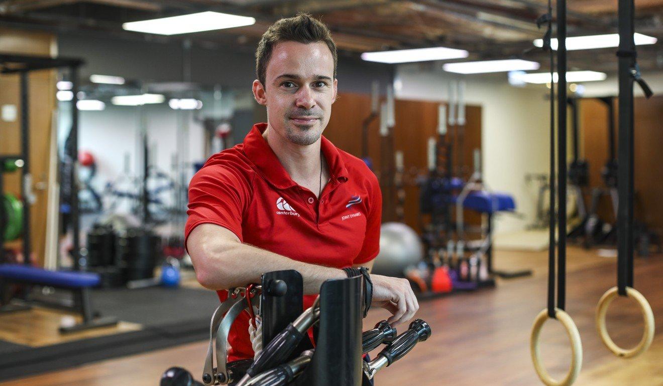 Joint Dynamics' Erwan Desvalois, a running specialist, looks to help turn Patrick Blennerhassett into a better runner in preparation for the 2020 Hong Kong Marathon. Photo: Xiaomei Chen