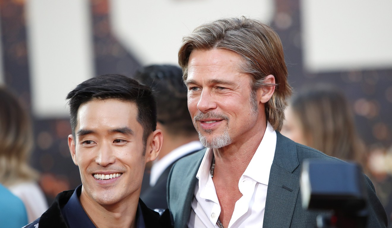 Mike Moh and Brad Pitt arrive for the premiere of 'Once Upon a Time in Hollywood' at the TCL Chinese Theatre IMAX in Los Angeles. Photo: EPA