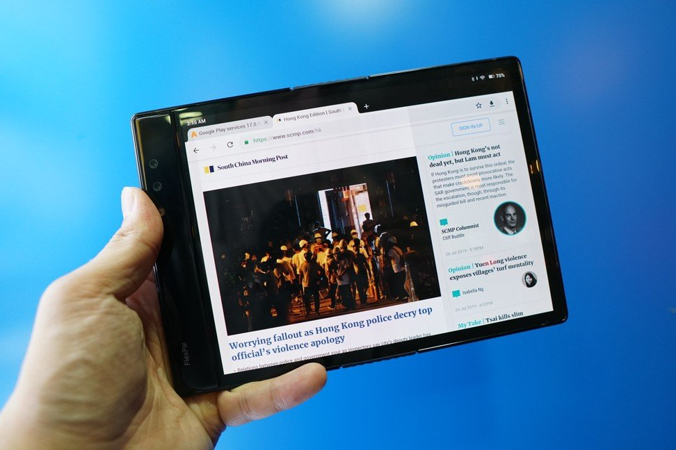 World's first' foldable phone reviewed – and it's not a Samsung or