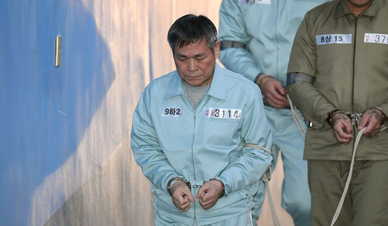 South Korean pastor Lee Jae-rock was jailed for raping eight female followers. Photo: AFP