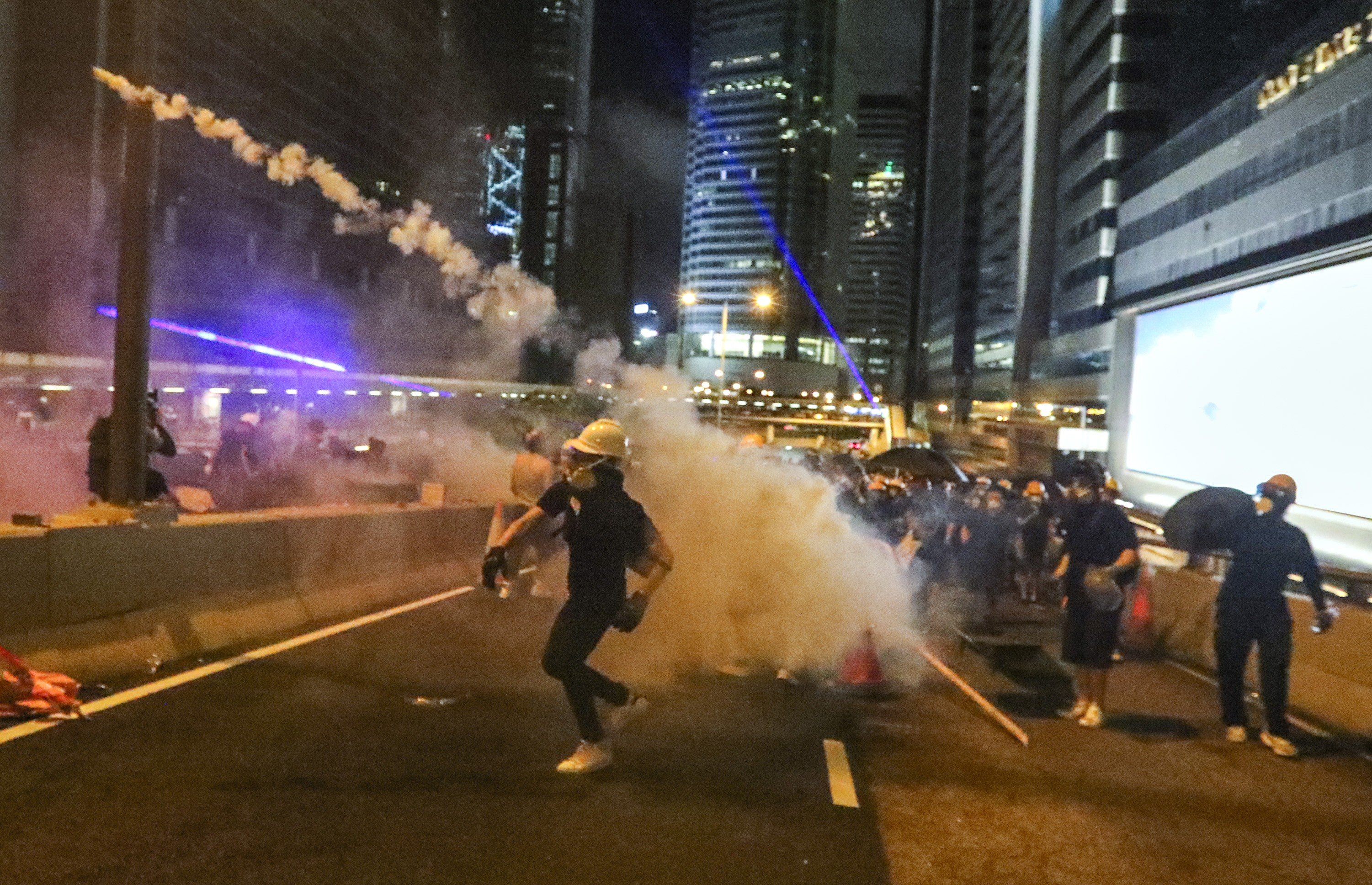 Police warn of more violence in Hong Kong protests after seizing
