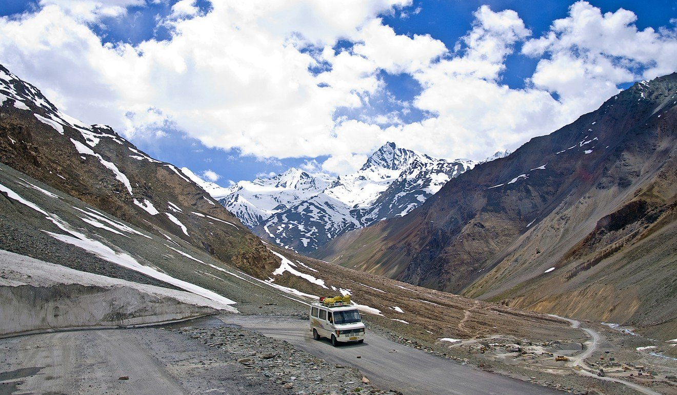 To reach Ladakh overland involves a journey along one of the world's highest altitude roads. Photo: Tim Pile