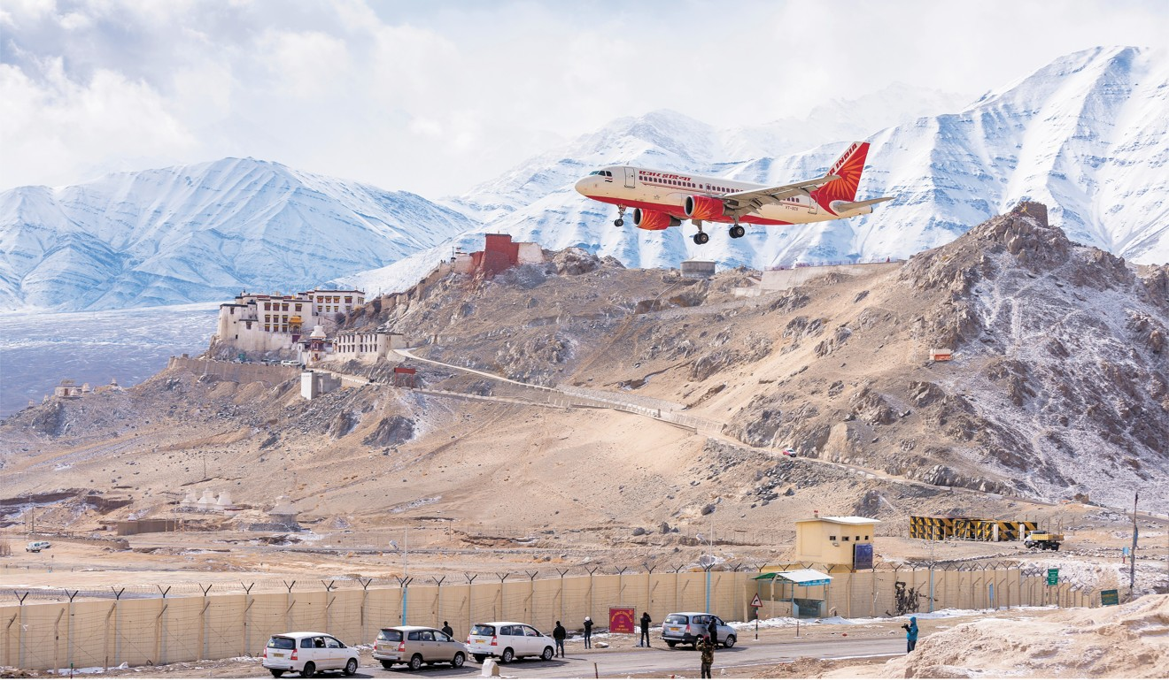An Air India plane approaches Leh airport. Photo: Shutterstock
