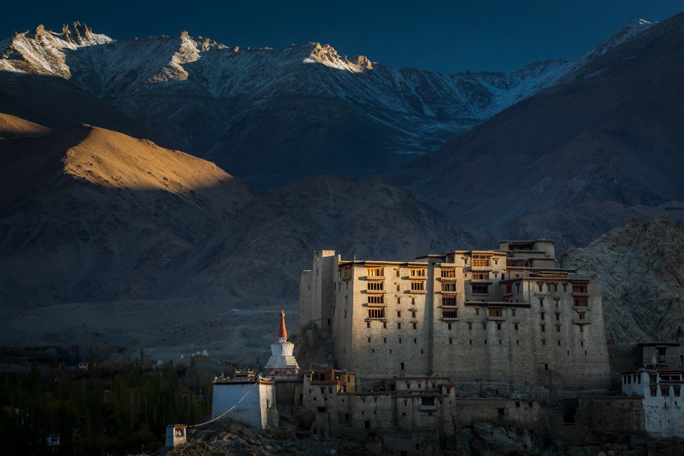 The former royal palace in Leh.