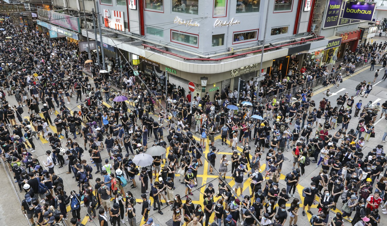Businesses of many restaurants had been affected since June 9, when an estimated 1.03 million people took to the streets to call for a full withdrawal of the extradition bill. Photo: May Tse