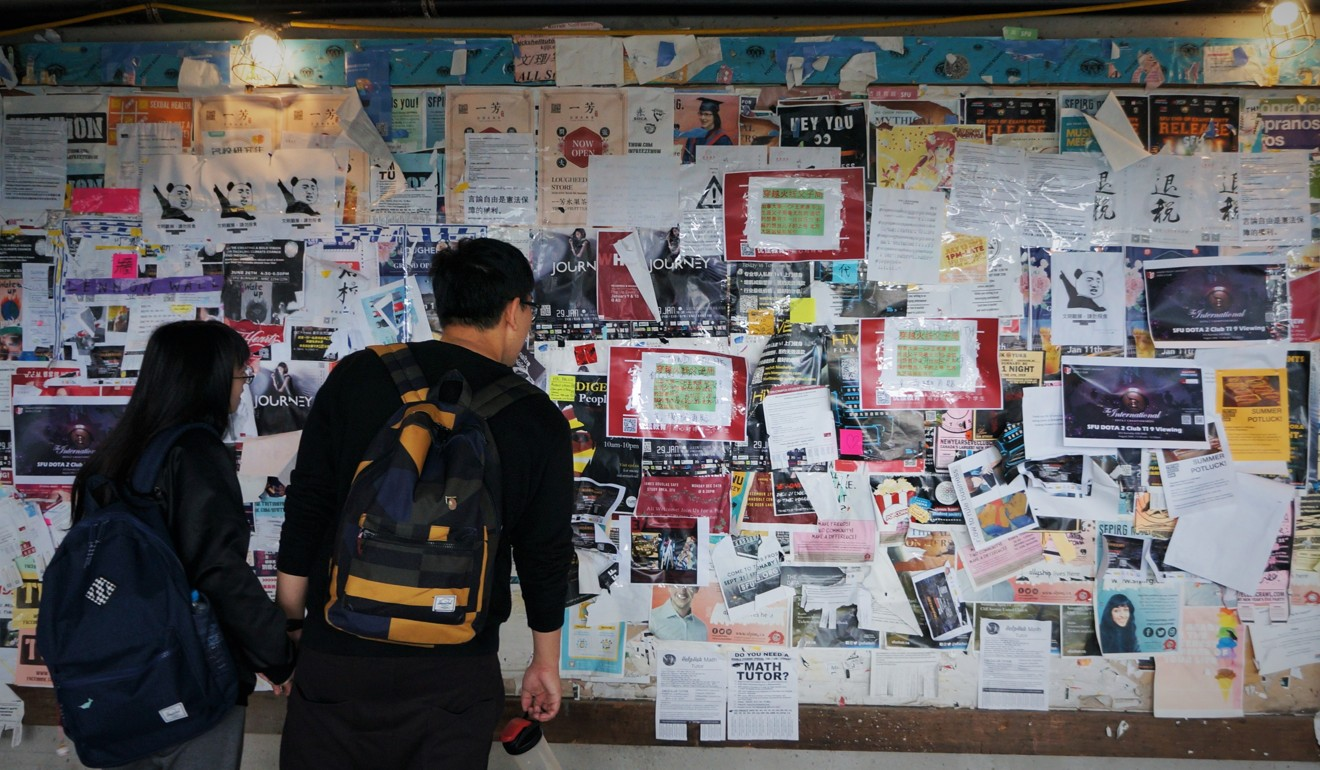 After vandals trash Canadian university's Hong Kong-protest Lennon Wall, student society blasts 'bullying' and vows to set up mobile replacement