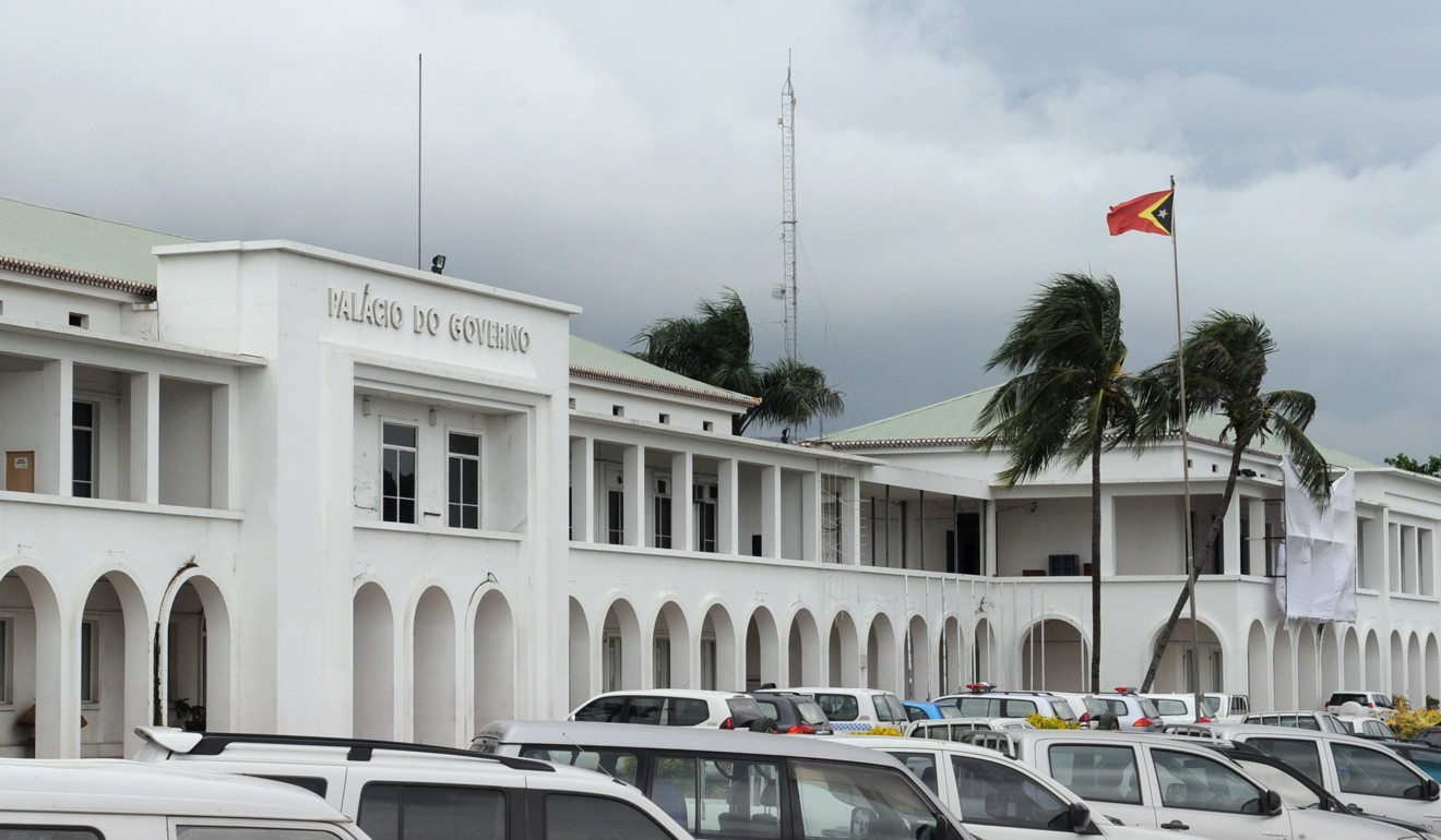 East Timor's Government Palace building in the capital Dili. Photo: AFP