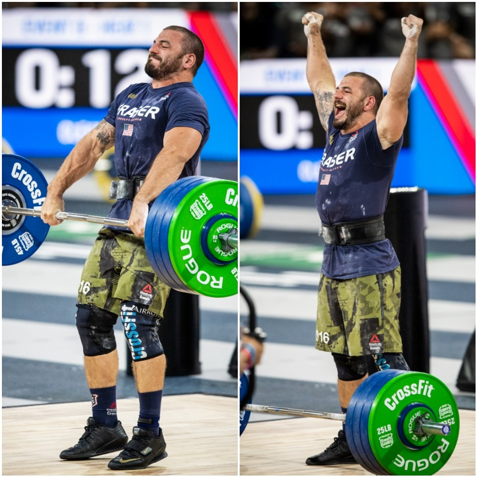 Mat Fraser wins the Clean at the CrossFit Games 2019, a defining moment en route to victory. Photo: Michael Valentin