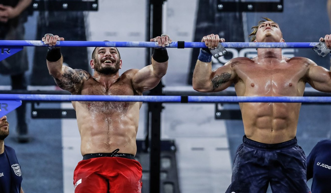 Mat Fraser (left) and Noah Ohlsen go toe-to-toe in the Mary event. Photo: CrossFit Inc.