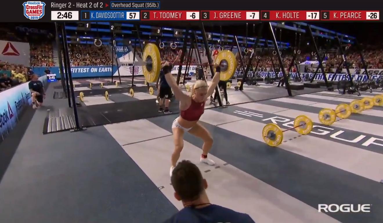 Katrin Davidsdottir during Ringer Two. Photo: CrossFit