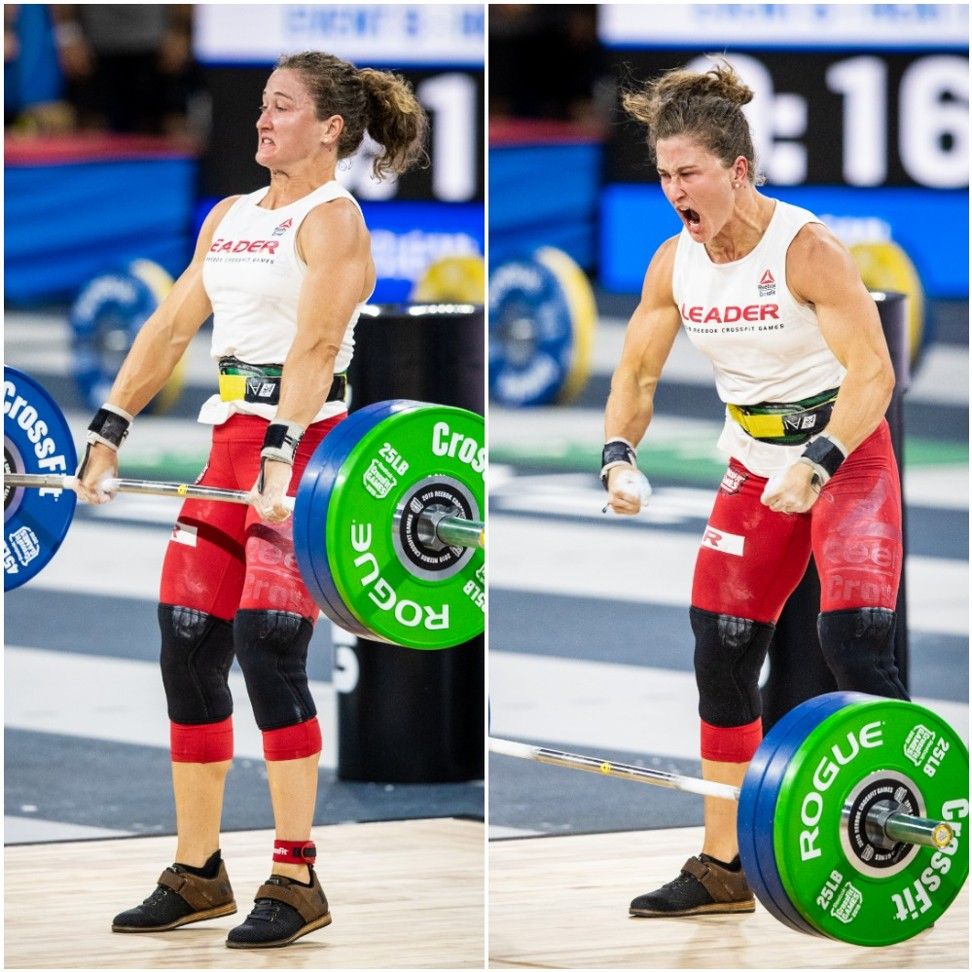 Tia-Clair Toomey wins the CrossFit Games Clean event, en route to taking her third title. Photo: Michael Valentin