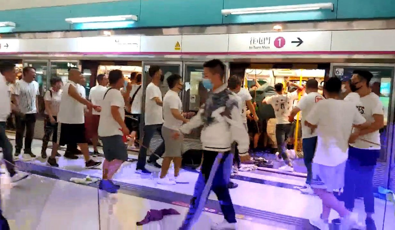 The slow response to the attack on rail passengers in Yuen Long in Hong Kong caused intense public anger. Photo: Handout