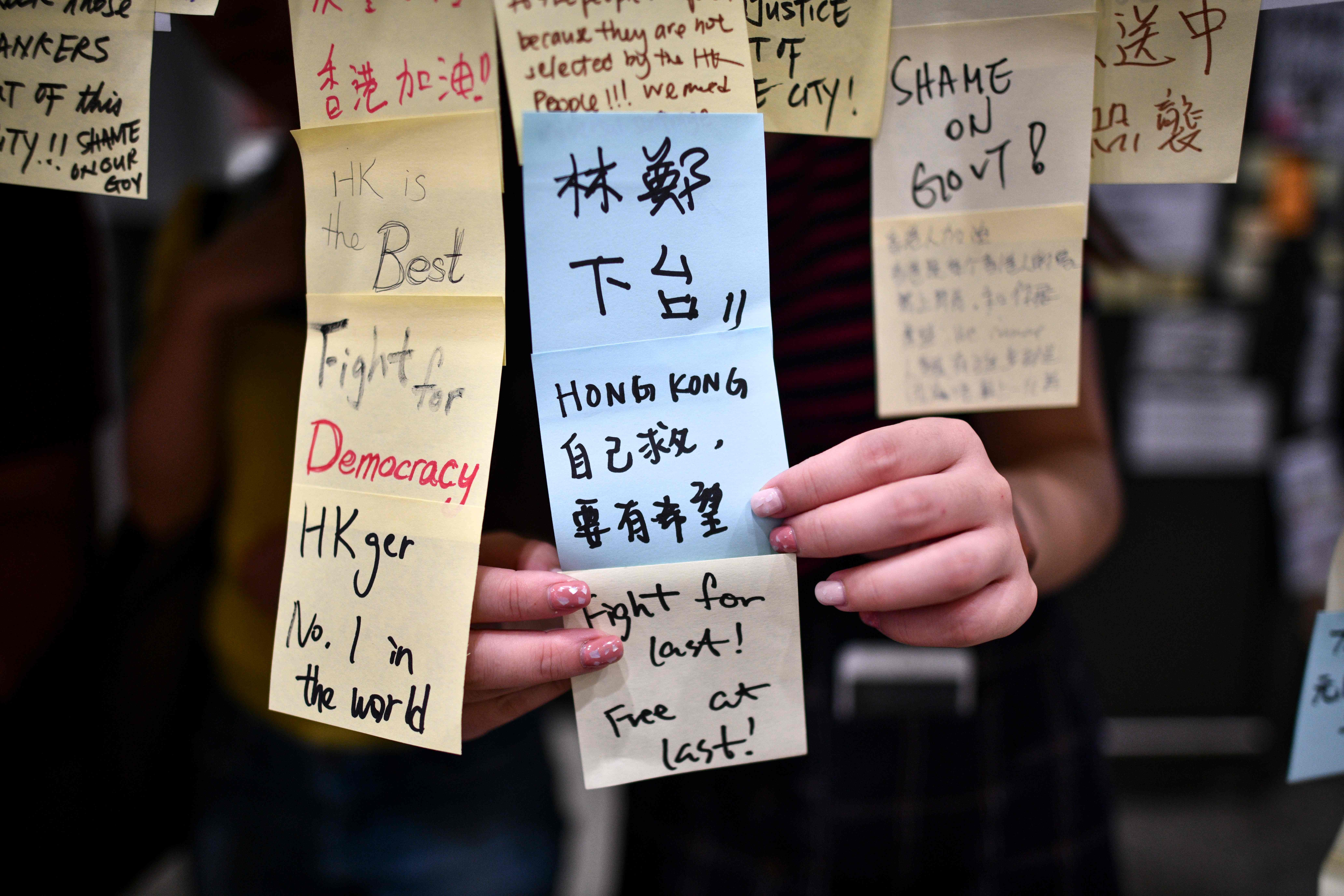 Hong Kong protesters should not be afraid to use English to
