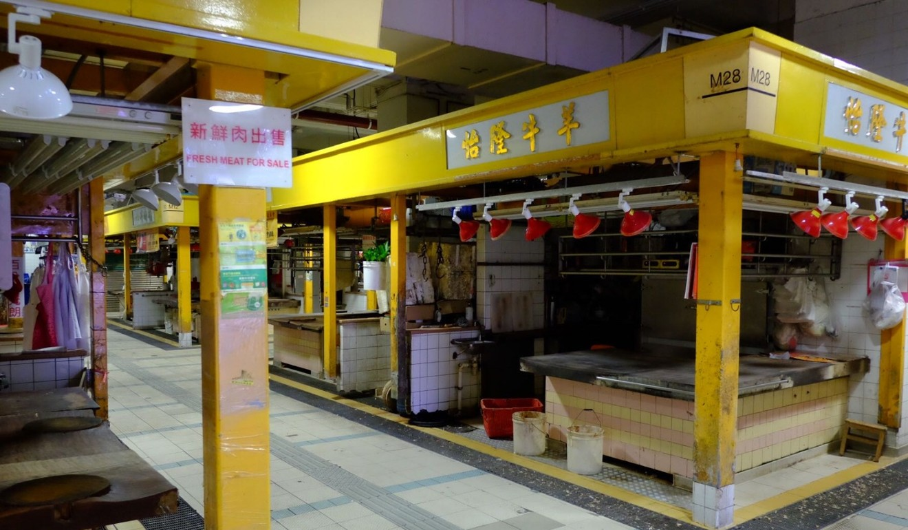 Centre of northern Hong Kong town of Tai Po largely deserted ahead of banned protest as businesses shut up shop