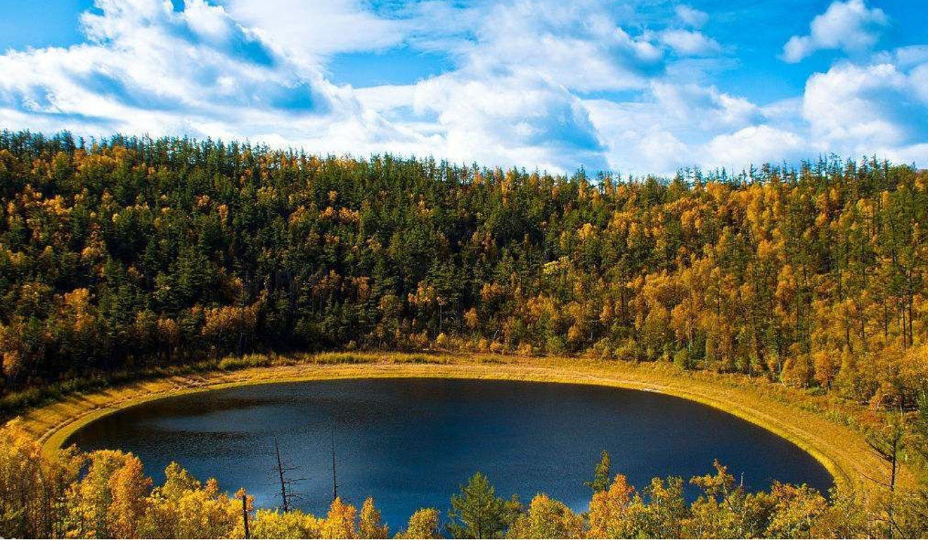Moon Lake, a small volcanic lake hidden in the deep forest of China's Greater Khingan Mountain Range, where a team of scientists spent more than a decade studying the secrets hidden in its sediments. Photo: Baidu