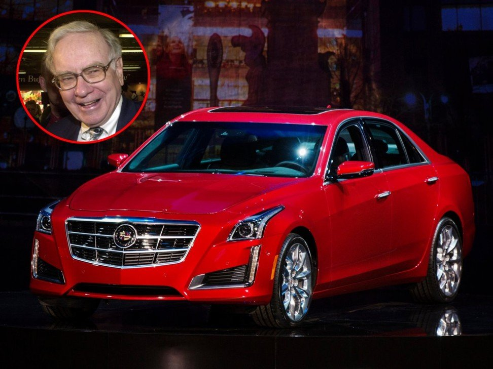 Warren Buffett, who is known to have used a 2014 Cadillac XTS. Photos: Associated Press/Reuters