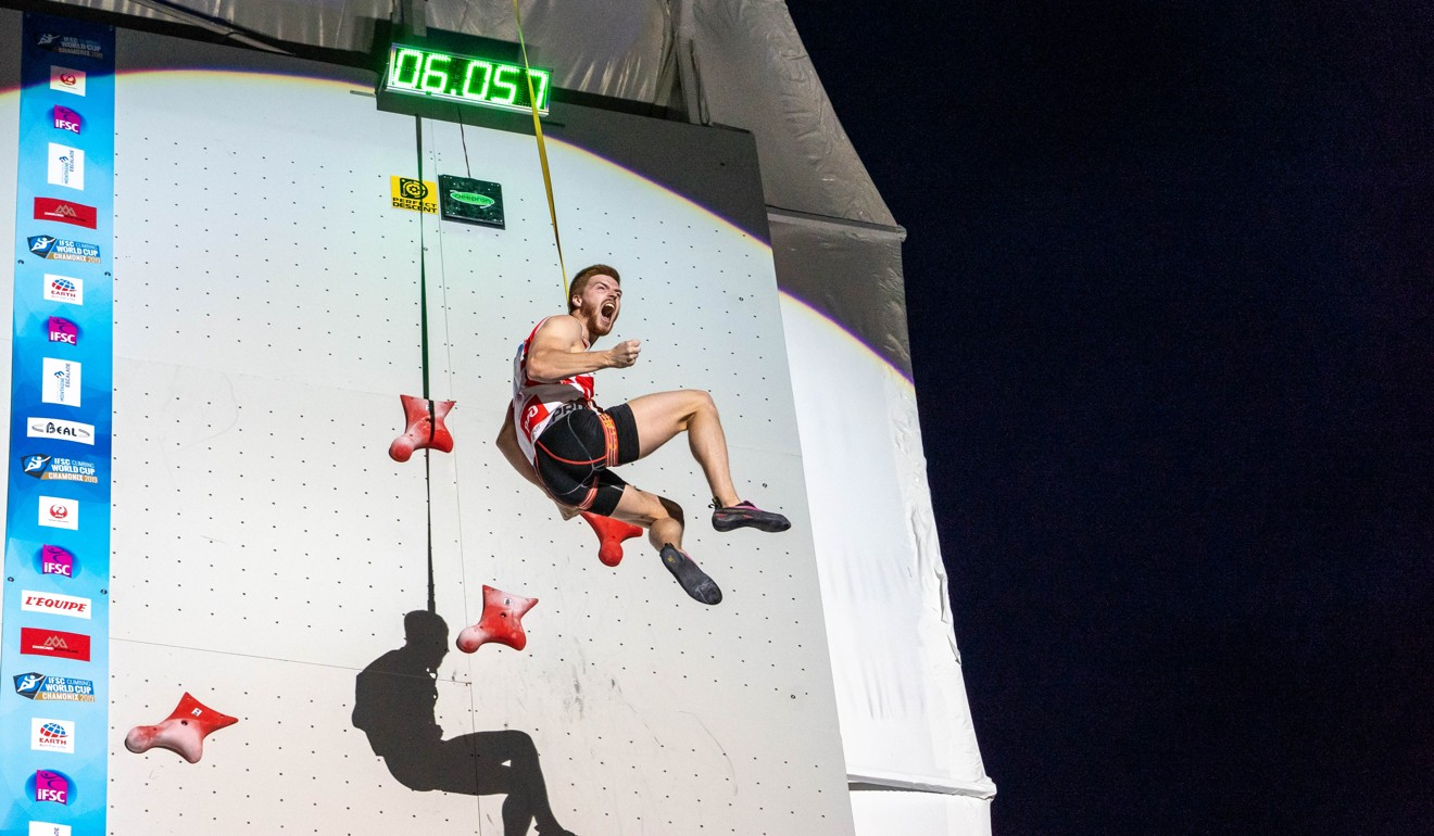 Speed climbing is simple but exhilarating. Photo: Eddie Fowke - IFSC
