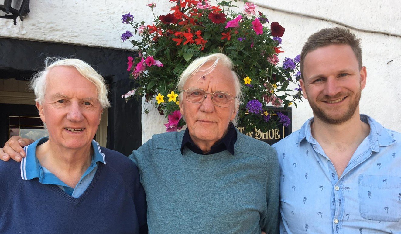Ronnie Faux [centre], with Crispin Agnew [left], a member of the 1976 Everest expedition and Mark Agnew, The Adventure Trail podcast host. Photo: Handout