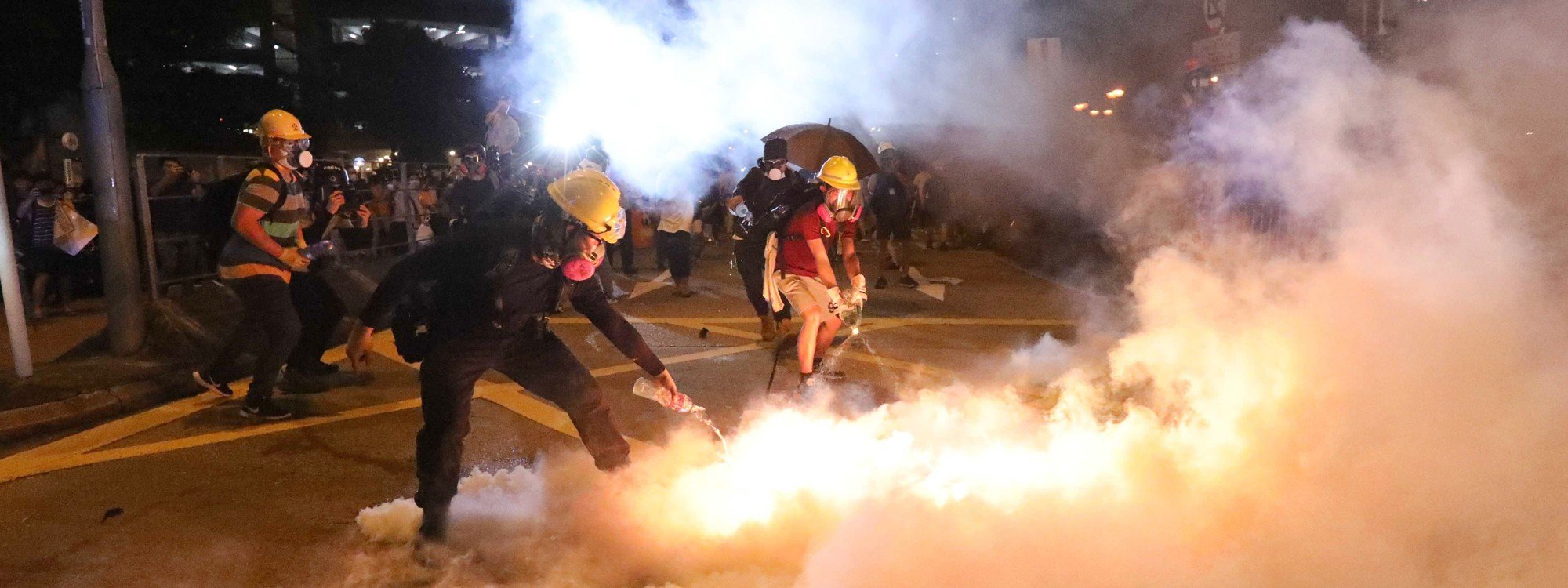Image result for hong kong tear gas