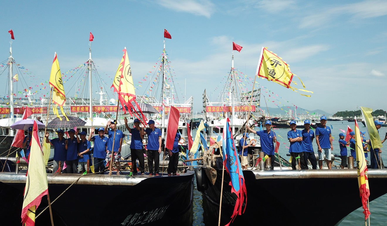 A festival in Hailing in Guangdong province on Friday marks the start of the new fishing season. Photo: Xinhua