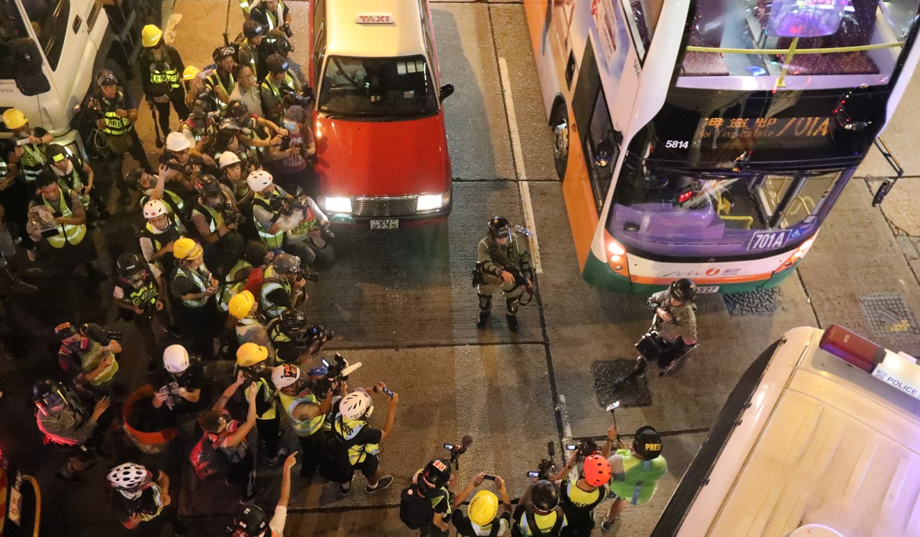 Showing a softer side? Hong Kong police release video of officer explaining to anti-government protesters the trouble they could land in