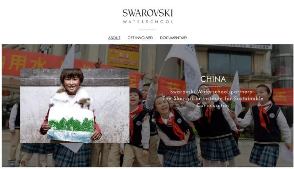 Swarovski's Yangtze River Water School in China, started in 2008. Photo: Swarovski Water School official website