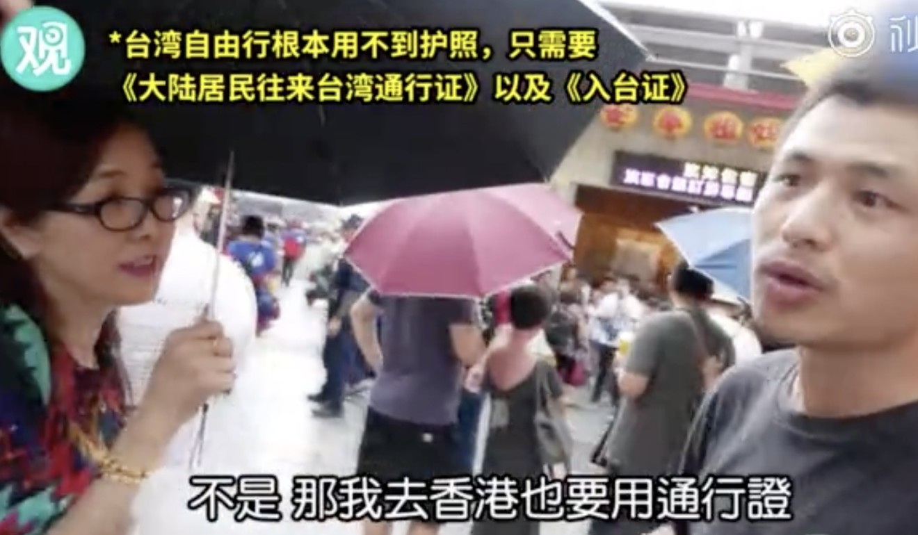 Tourist fights 'one China' corner with YouTube interviewer in fiery debate on streets of Taiwan