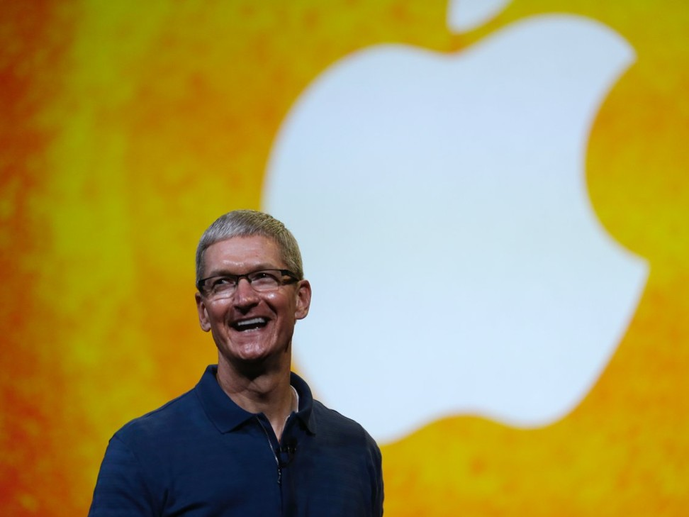 How does Apple CEO Tim Cook plan to be the 'pebble in the pond that creates the ripple for change?'