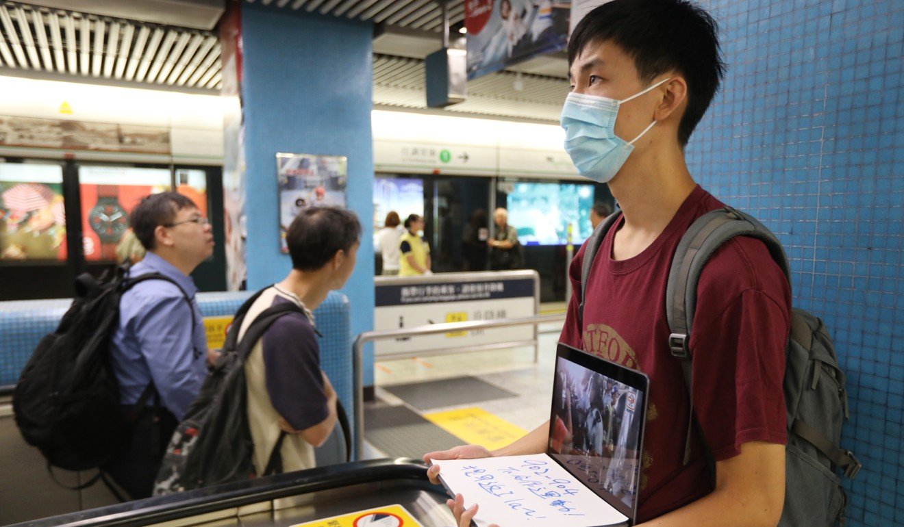 Hong Kong protests: trains run smoothly as planned disruption kept to minimum at city's stations