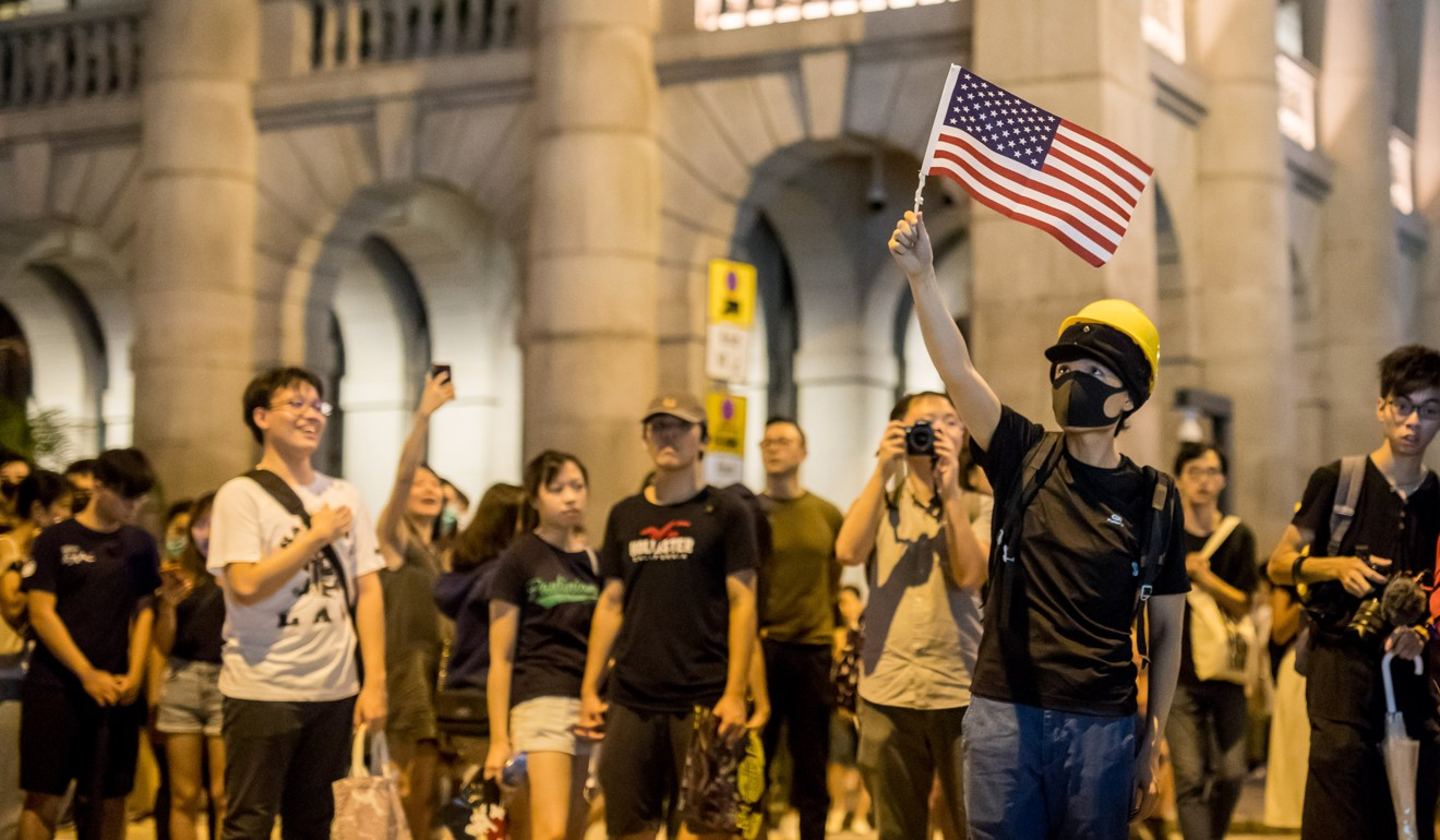 Are Hong Kong protesters pro-American or British when they wave the US and UK flags? The answer is complicated