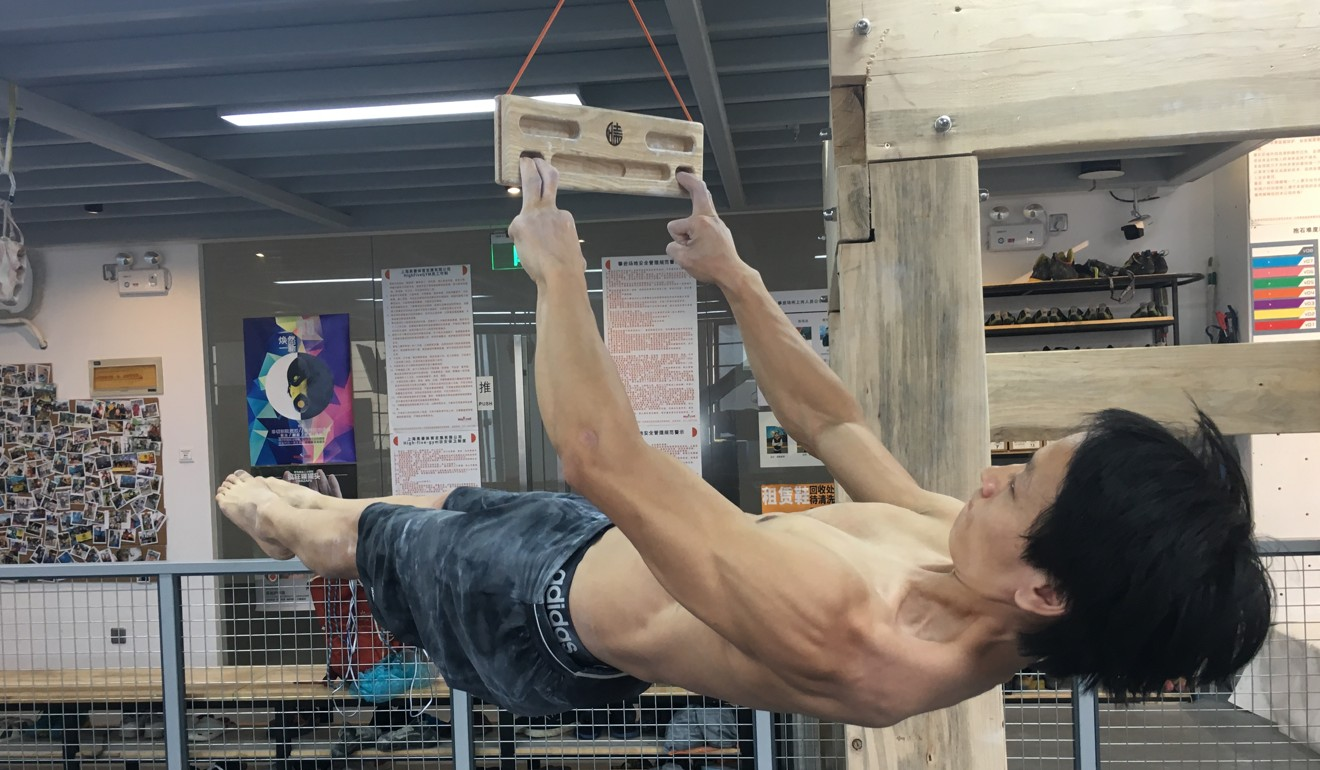 Finger and core strength are key components of climbing.