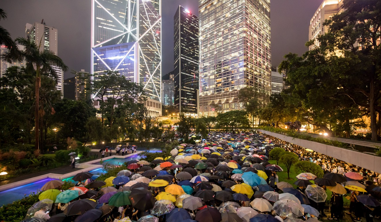State media has been vocal in criticising the Hong Kong protest movement. Photo: Bloomberg