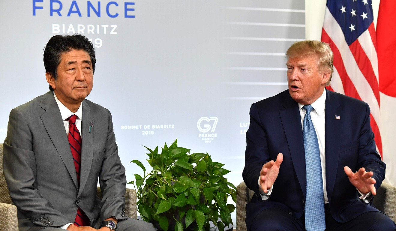 Donald Trump and Shinzo Abe claim to have agreed trade deal worth 'billions of dollars'