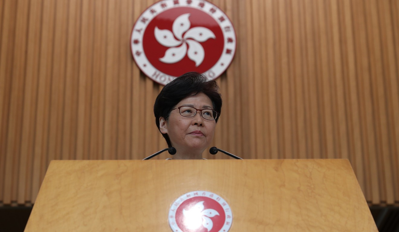 Carrie Lam did not rule out invoking emergency powers. Photo: Robert Ng