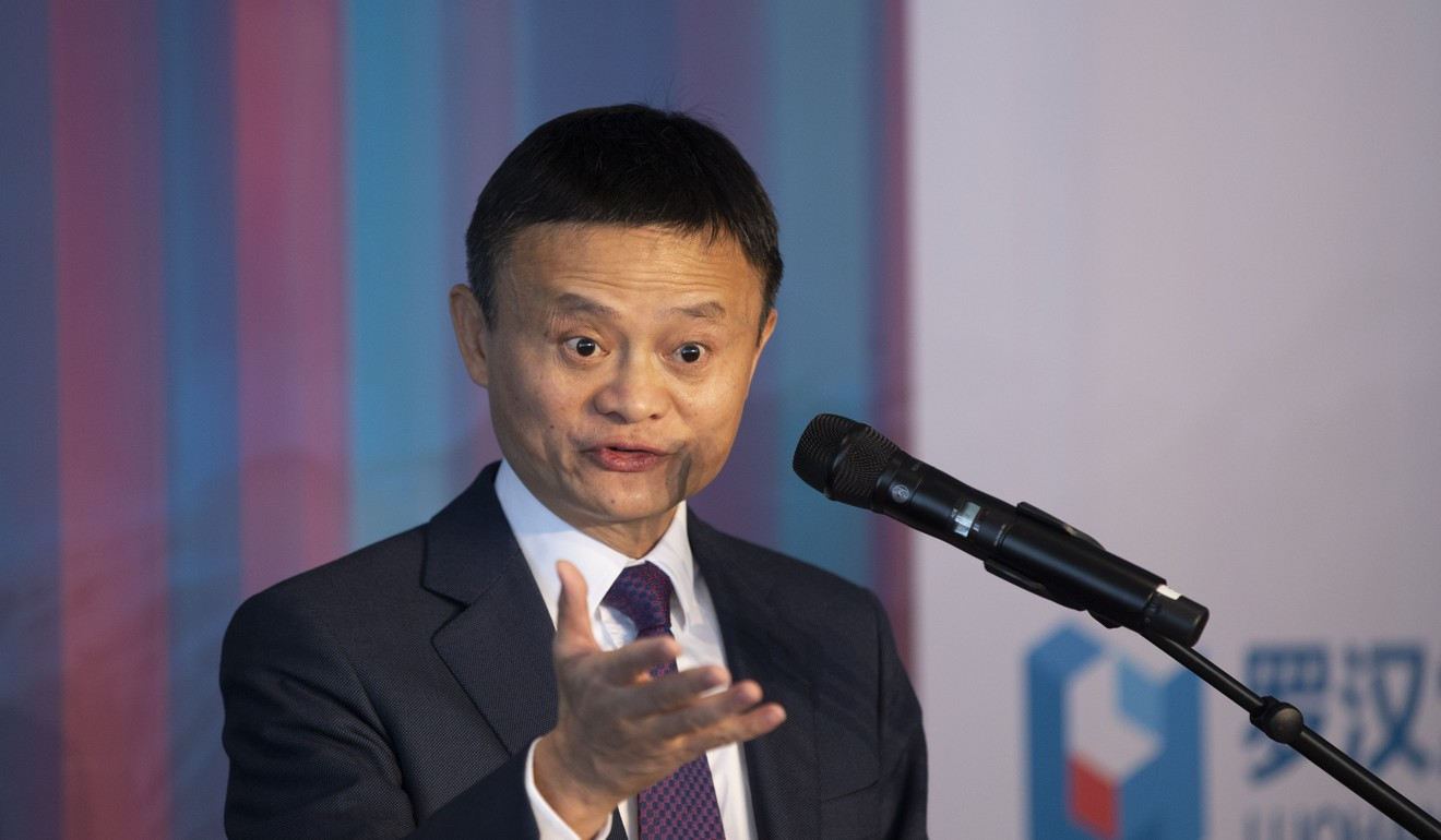 Alibaba co-founder and chairman Jack Ma speaks at the 2019 World Economic Forum (WEF) annual meeting in Davos. Photo: Xinhua