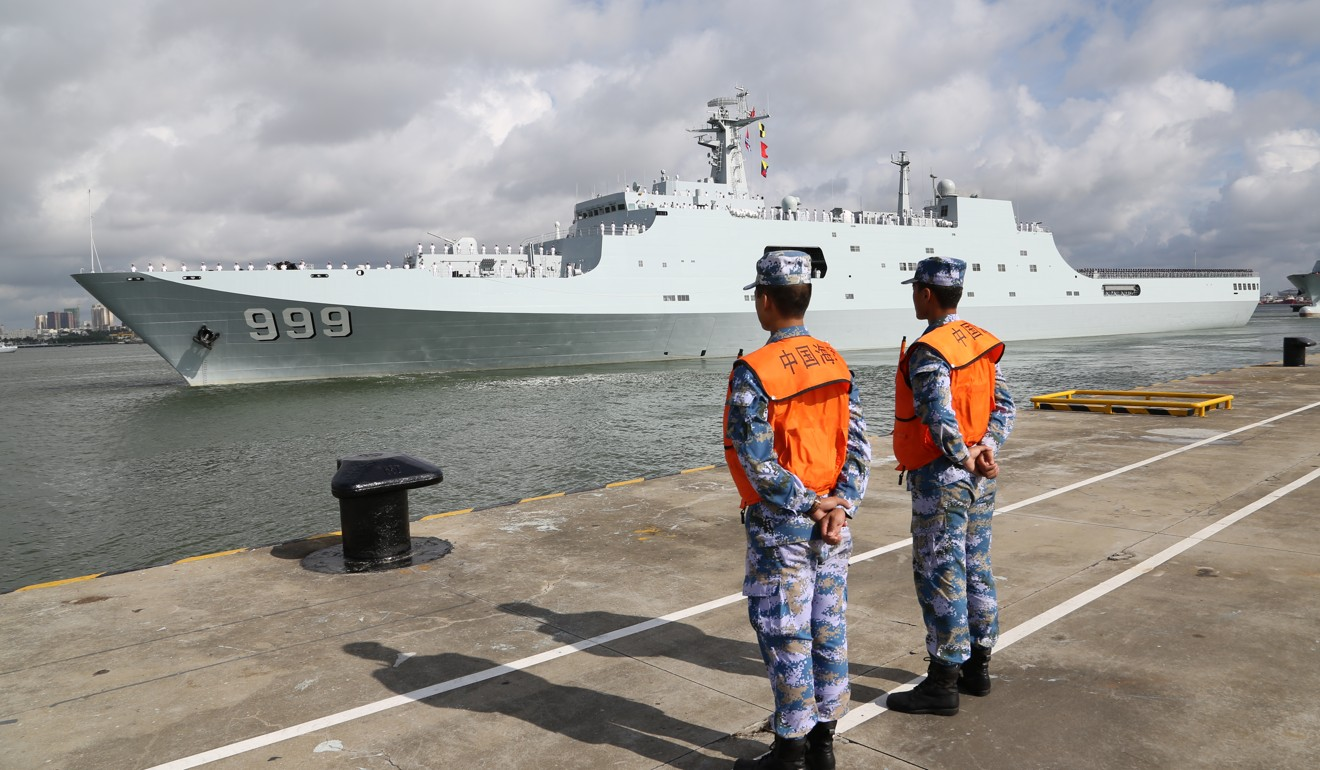 China's navy currently has just one overseas base, in Djibouti. Photo: Xinhua