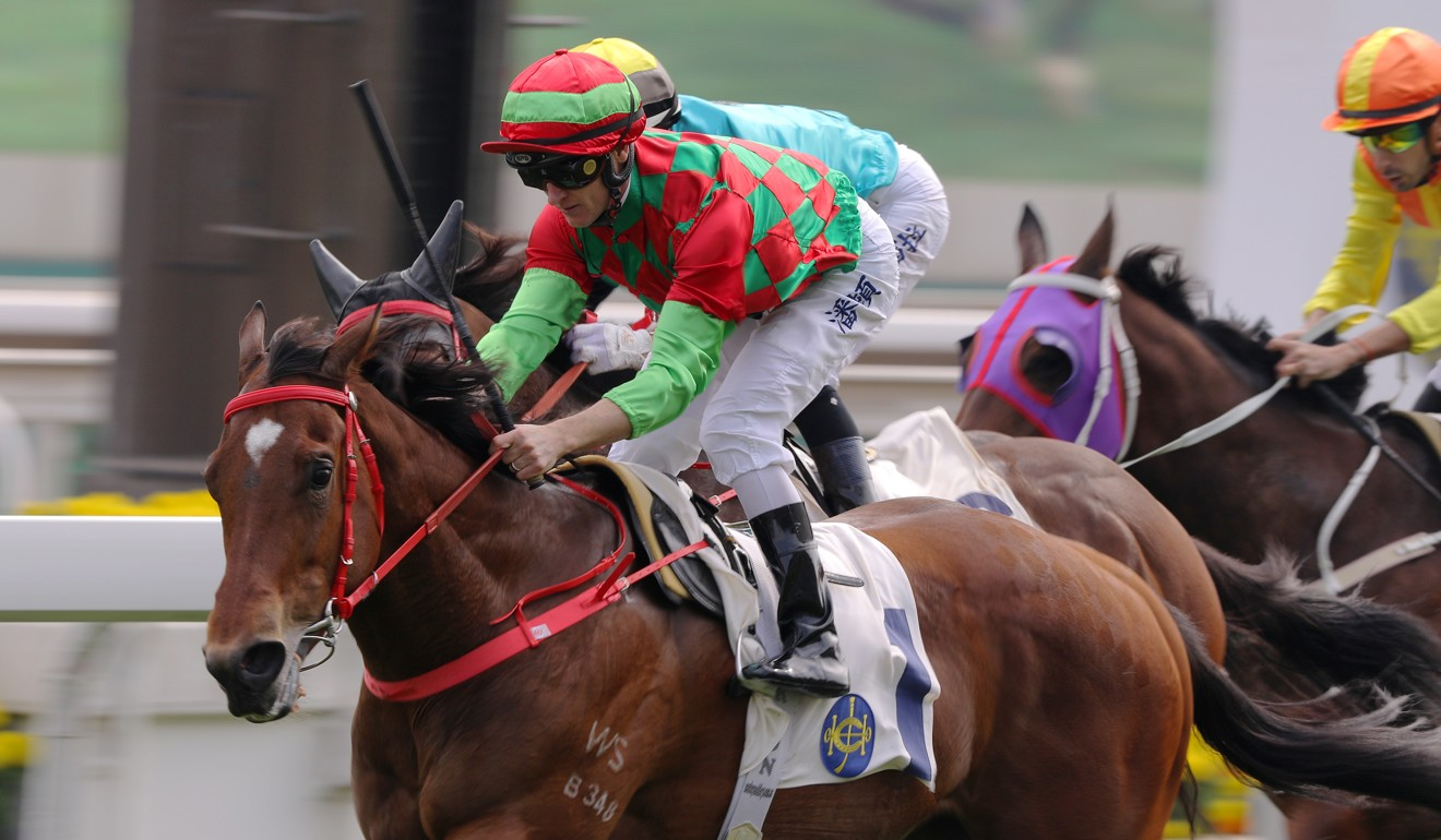 Regency Legend wins his last start at Sha Tin under jockey Zac Purton.