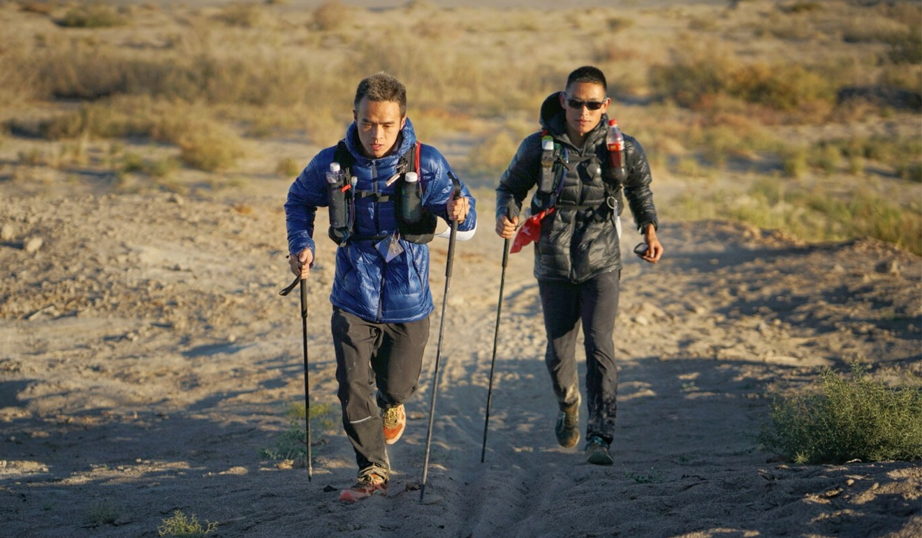Liang Jing en route to victory at the 400km Ultra Gobi, taking runners to the pain zone and outlasting them. Photo: Ocean Visuals