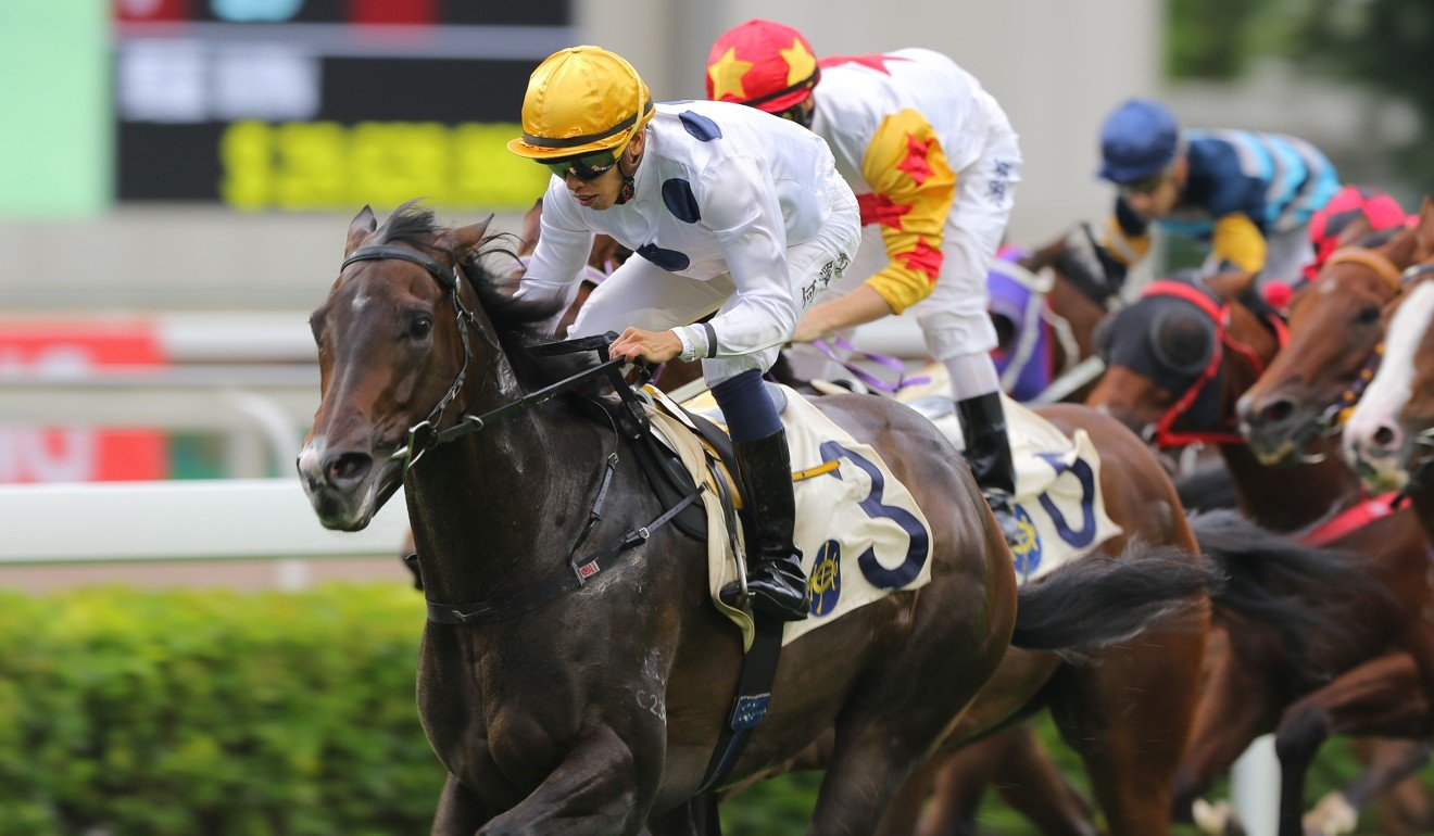 Golden Sixty motors home late to win at Sha Tin on Sunday.