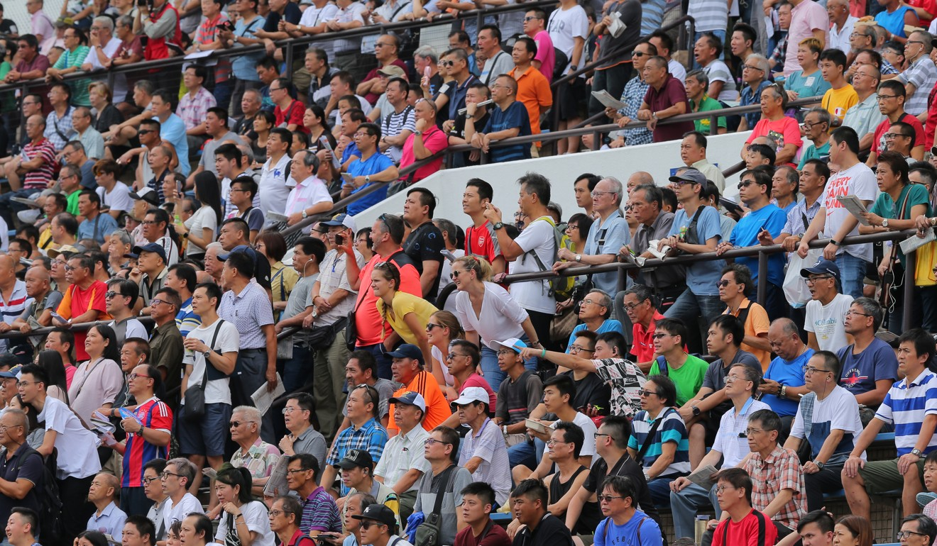 Racing fans at Sha Tin.
