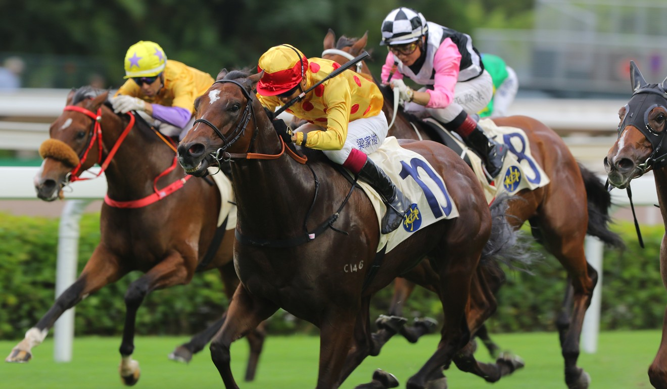 Richard Gibson's Gold Chest runs away to win under Derek Leung at Sha Tin.