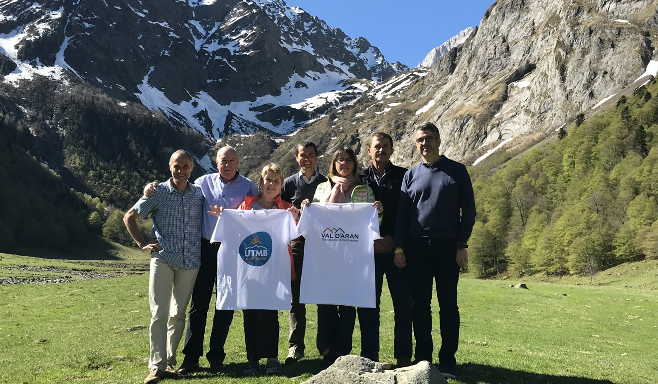 UTMB International and INARAN Sports celebrate the opening of a new race. Photo: UTMB