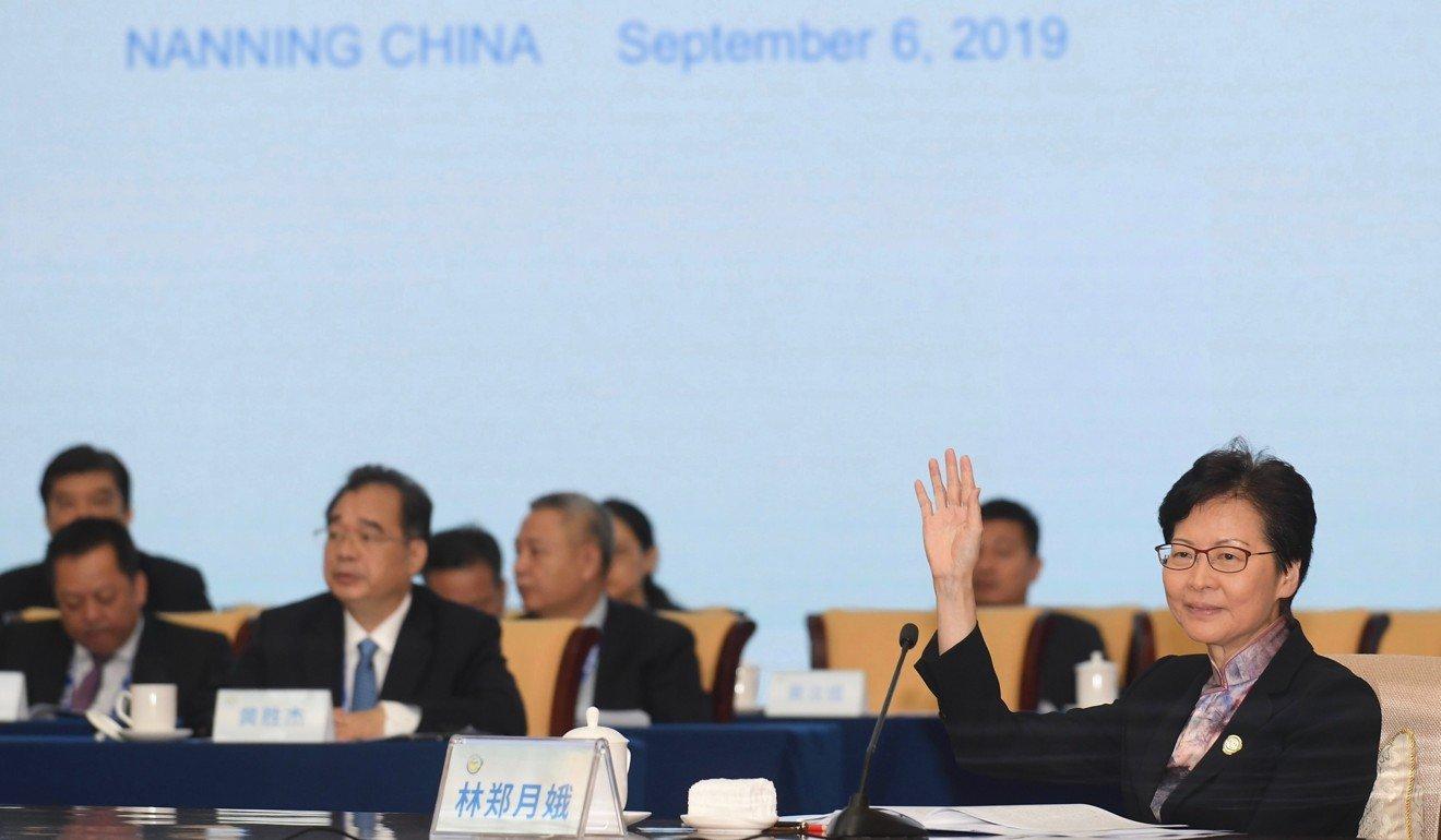 As Hong Kong protests reflect anti-mainland China sentiment, Carrie Lam boosts cross-border ties